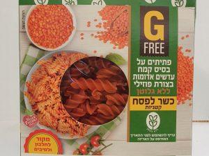 פסטת פוזילי מקמח עדשים אדומות - ללא גלוטן