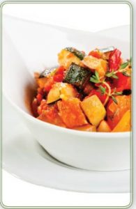 ירקות צלויים בתנור במרינדת סילאן וצ'ילי