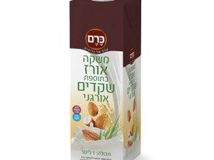 5 יח' משקה אורז שקדים אורגני - כרם